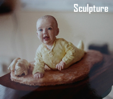 A moment in time -  baby sculpture